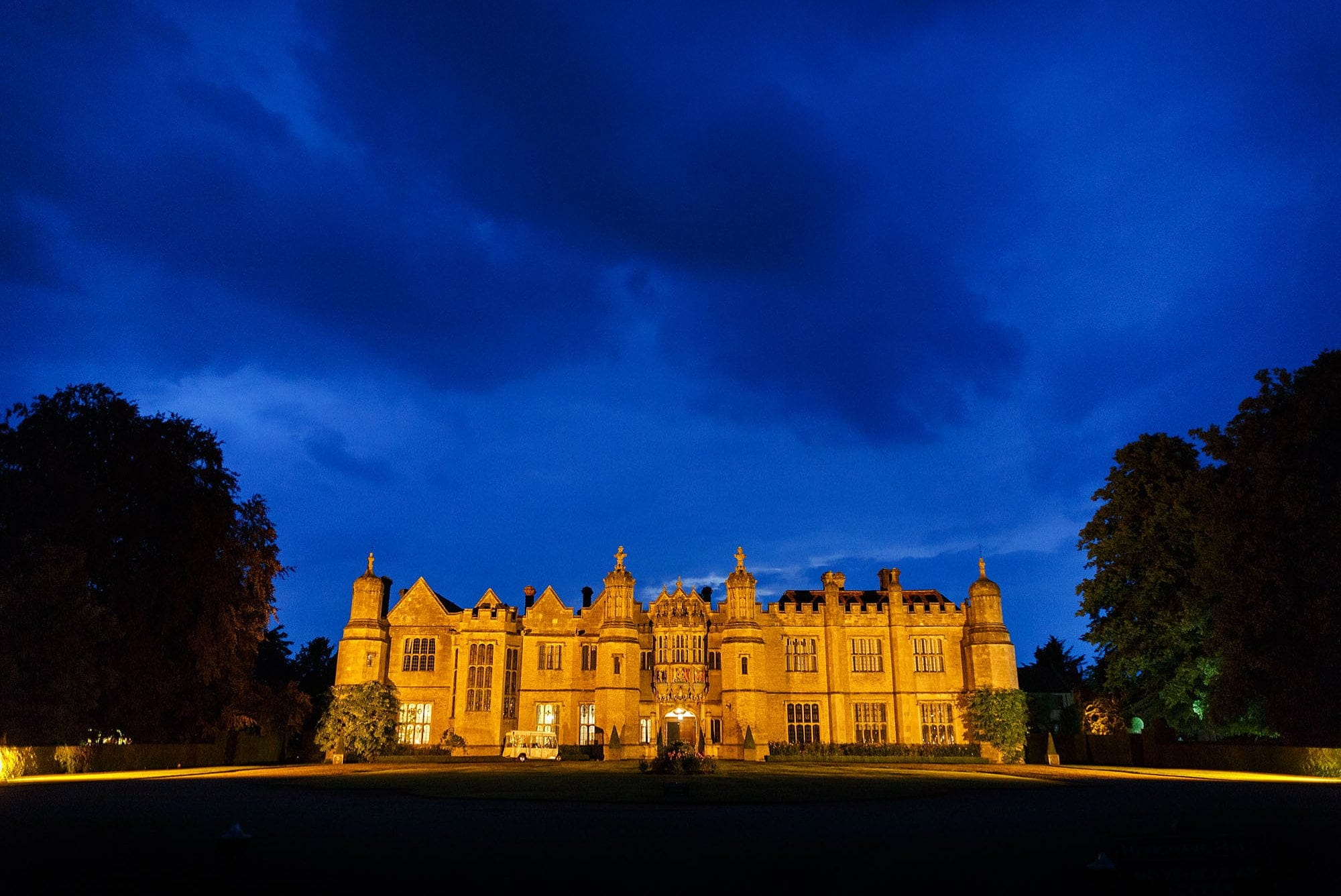 Hnegrave Hall by night