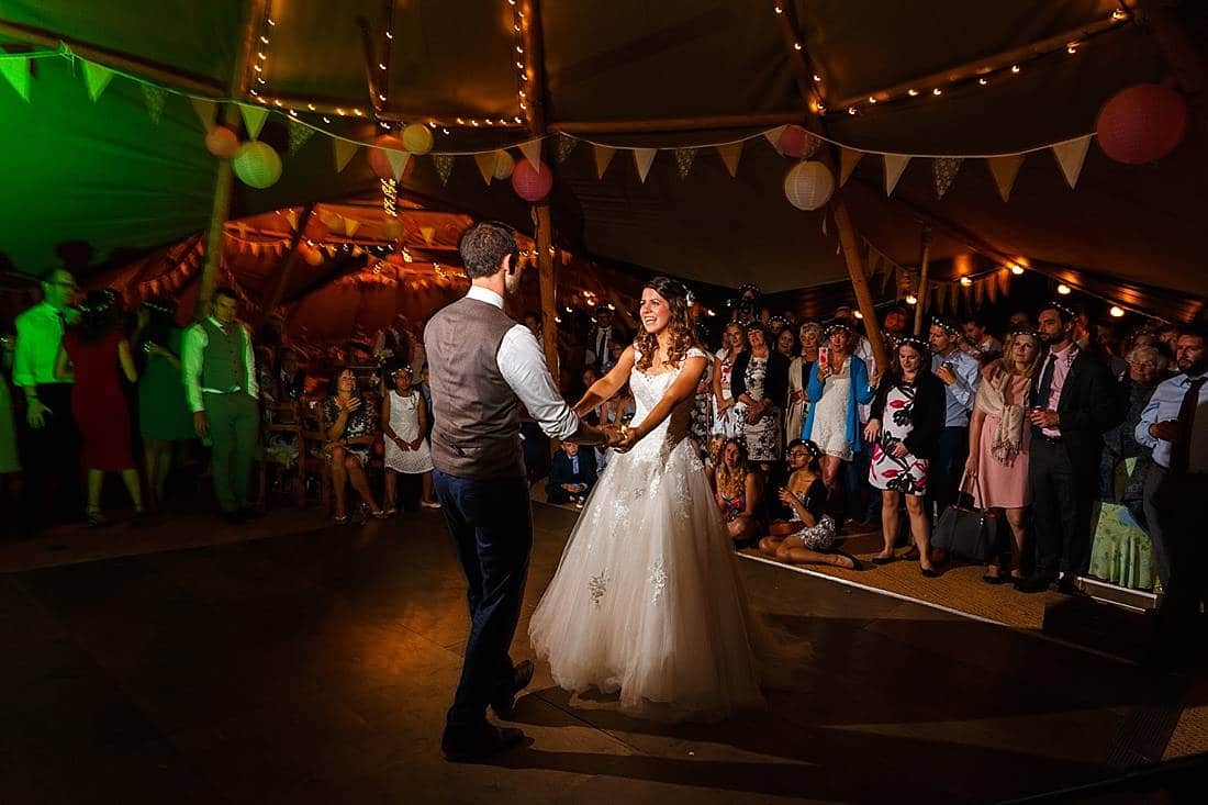 Suffolk tipi wedding dancing