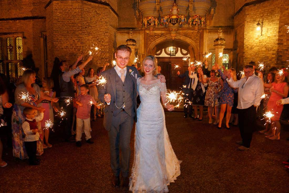 Hengrave wedding sparklers