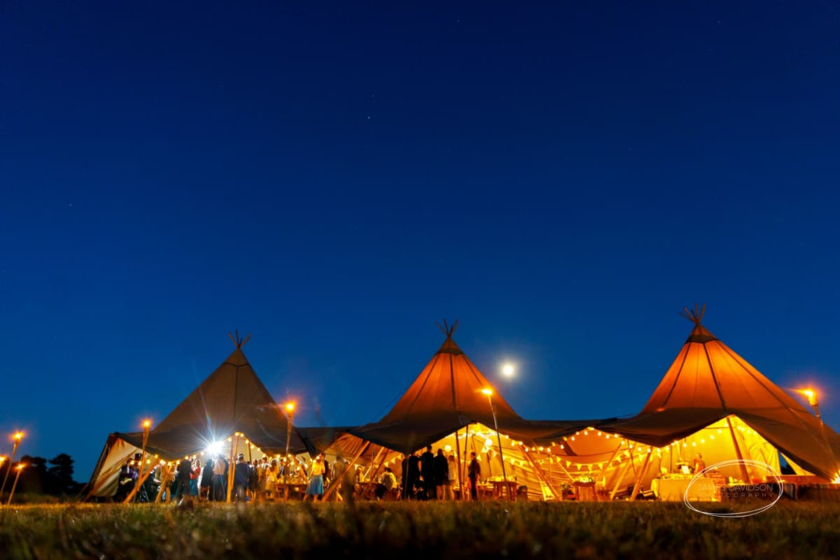 Suffolk tentipi wedding photos
