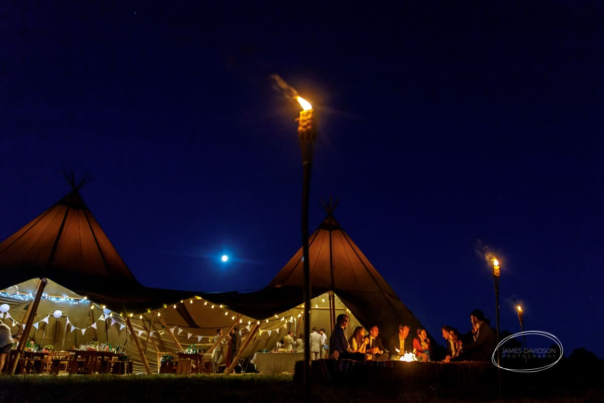 Suffolk tentipi wedding
