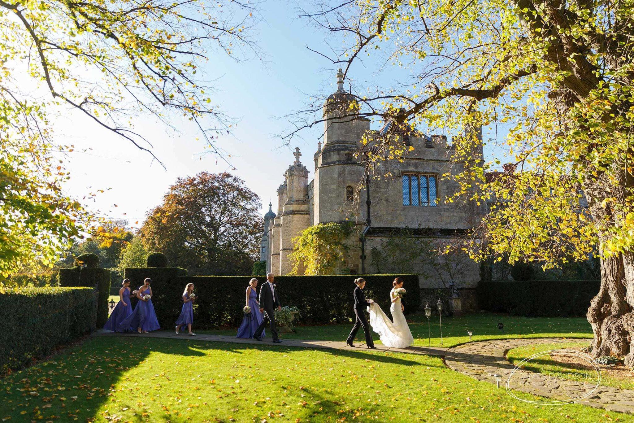 Hengrave Hall autumn wedding