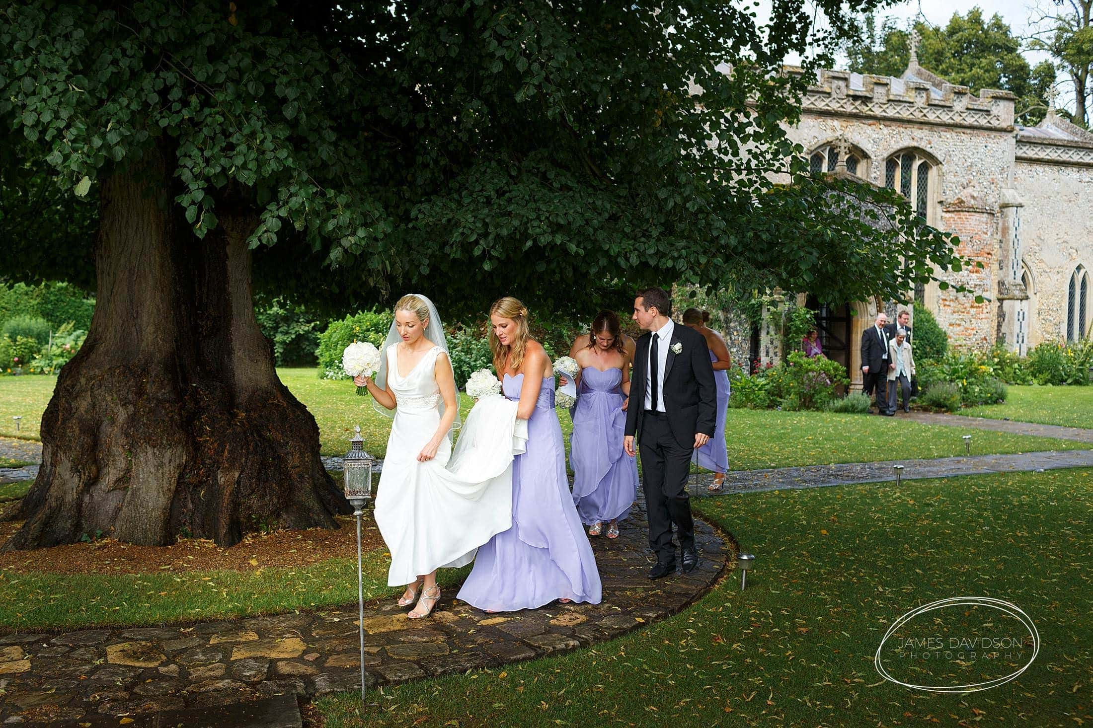 Hengrave Hall summer wedding photos