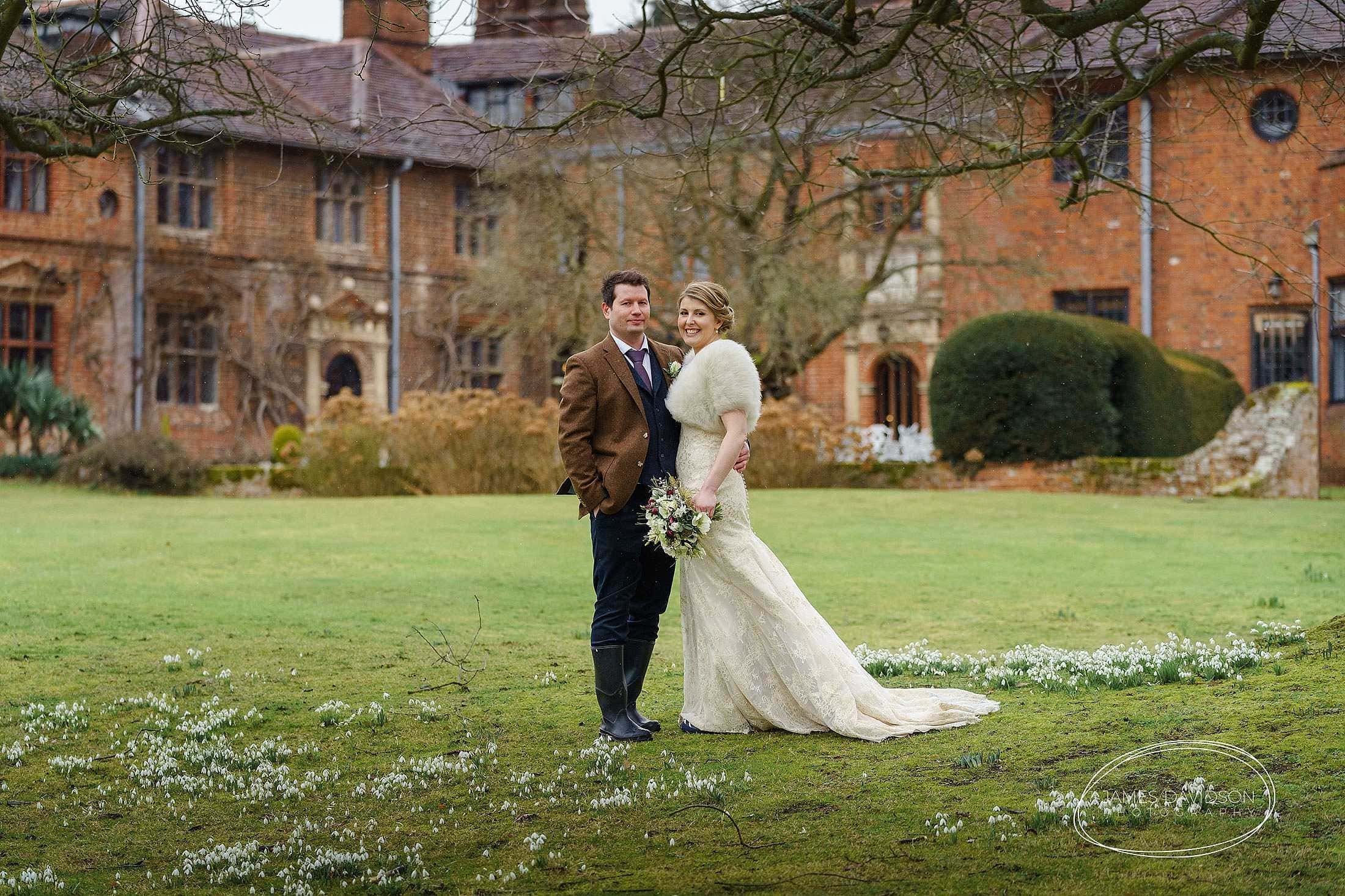 Seckford Hall winter wedding