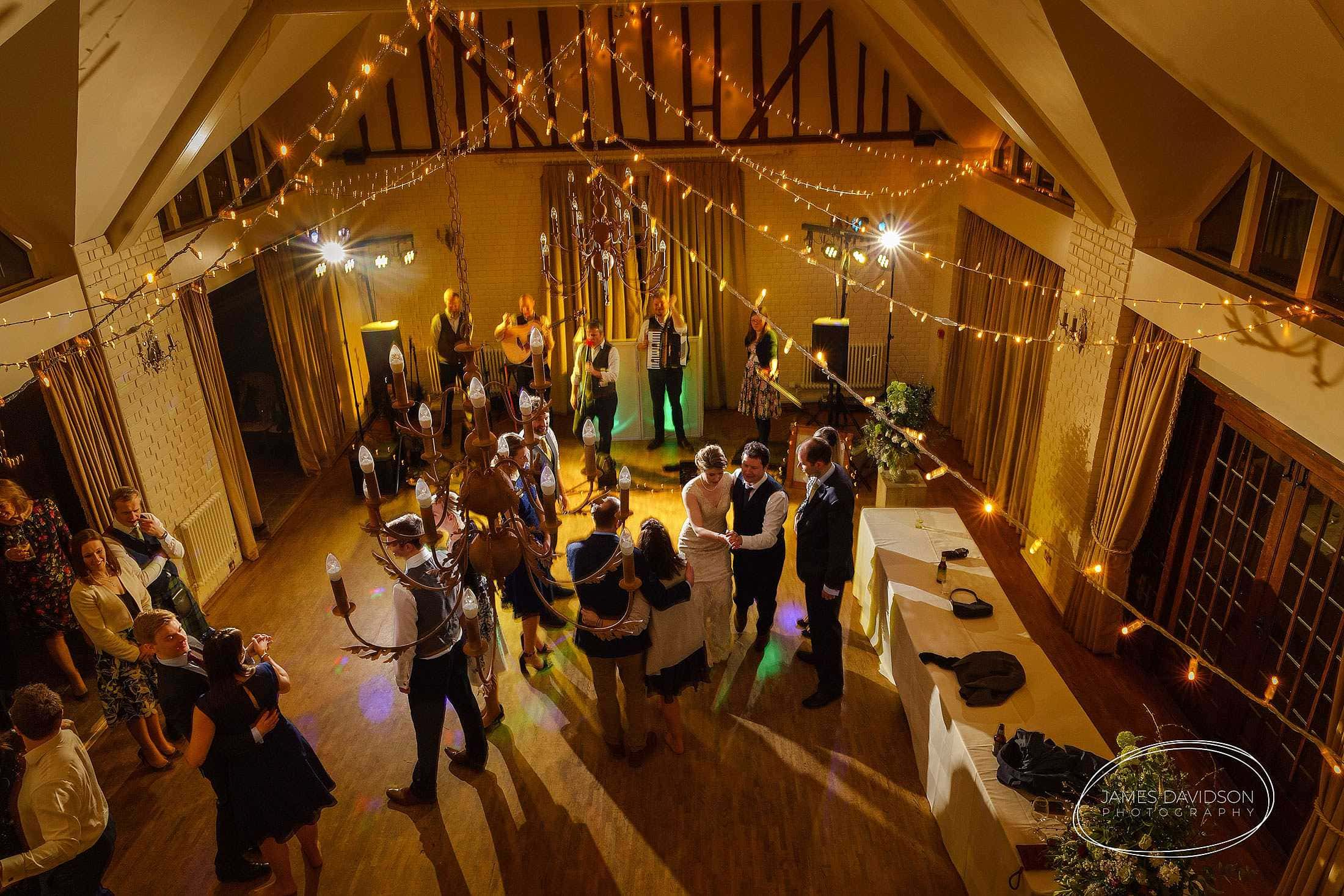 dancing Seckford hall wedding