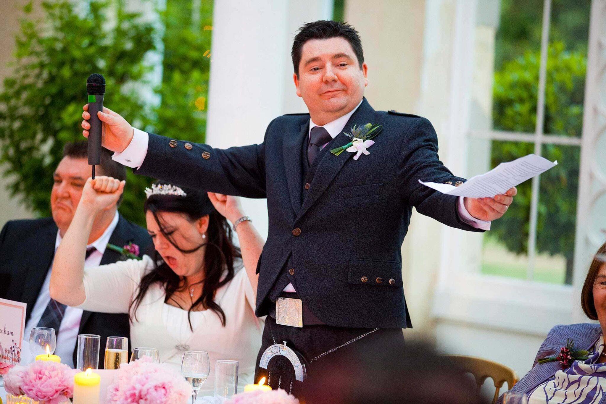 Syon Park wedding speeches