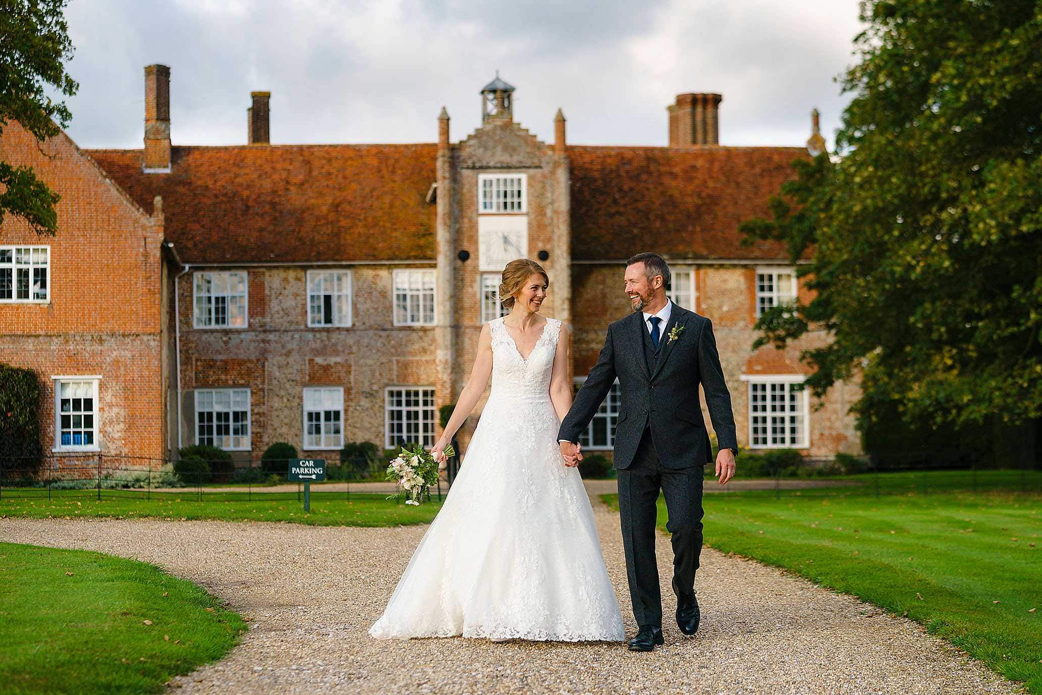 bruisyard Hall autumn wedding photography