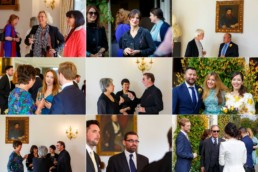 Cambridge Cottage wedding guests