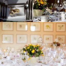 Cambridge Cottage wedding table settings