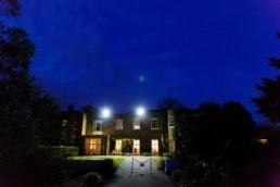 Cambridge Cottage at night