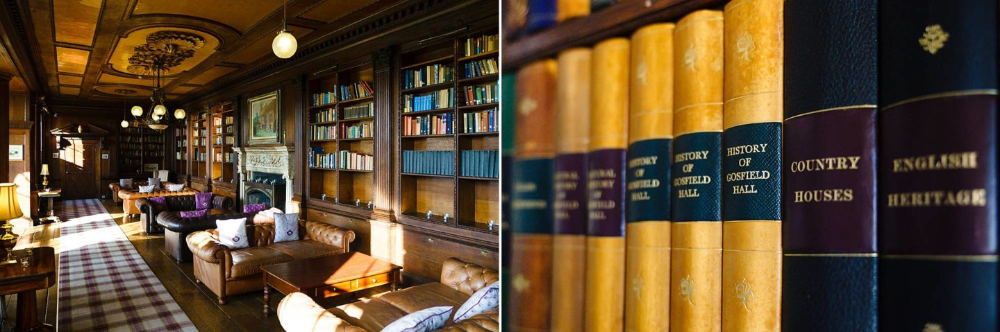 Gosfield Hall library