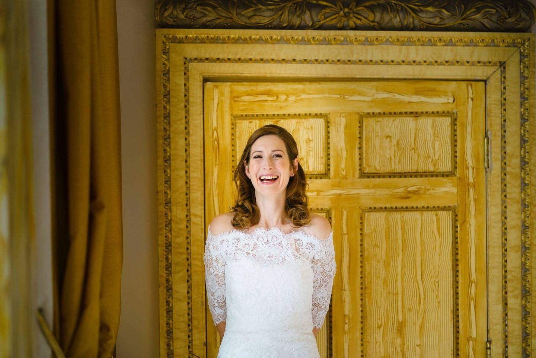 Happy bride at Gosfield