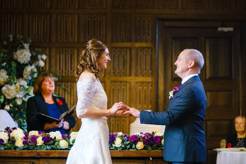 ring exchange Gosfield Hall wedding