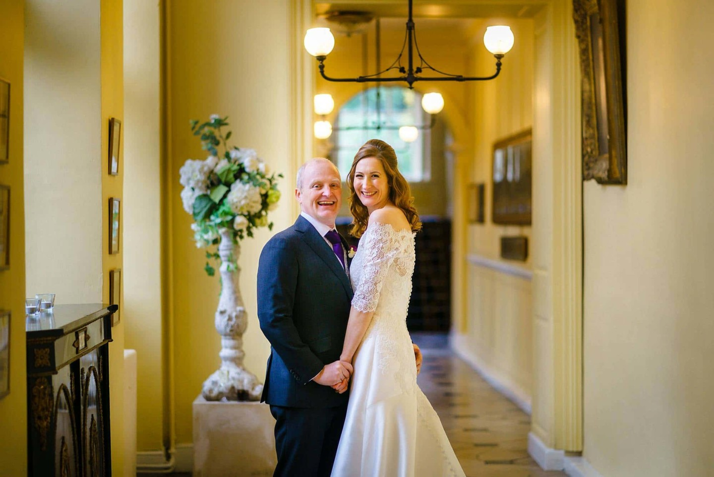 wedding couple at Gosfield