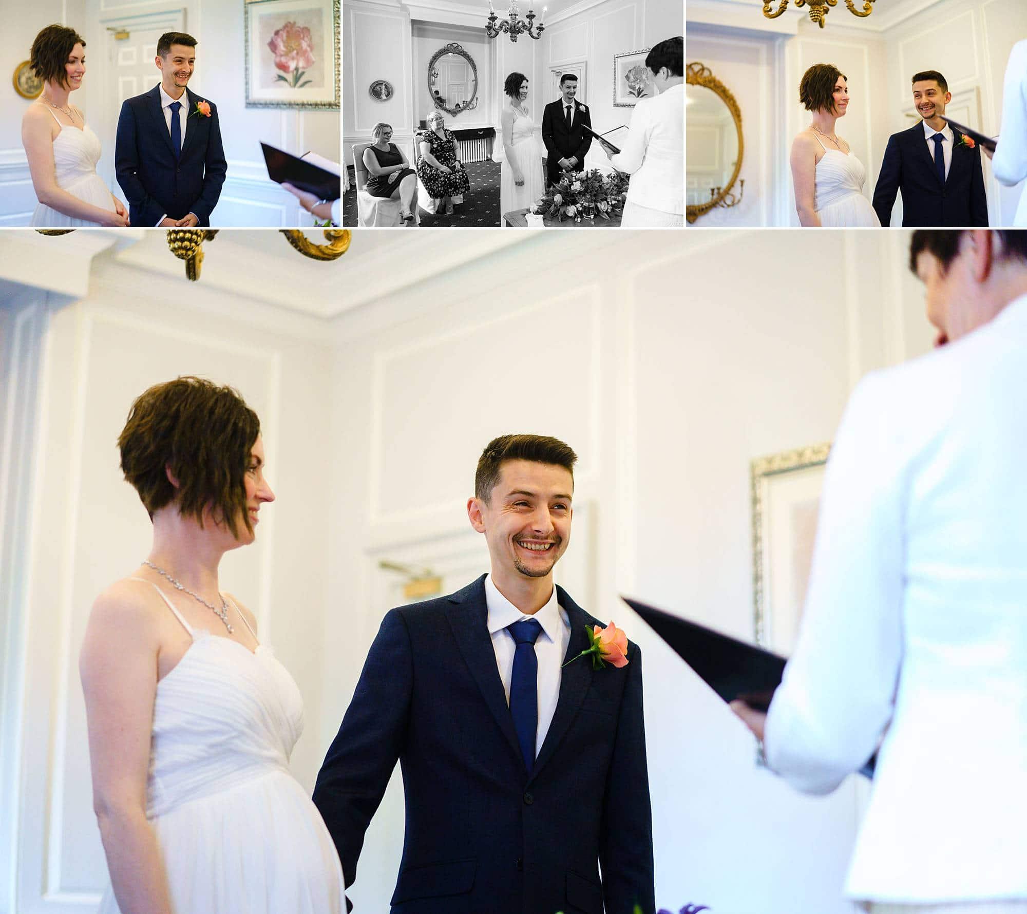 civil ceremony Hintlesham Hall wedding