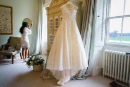 wedding dress on dolls house