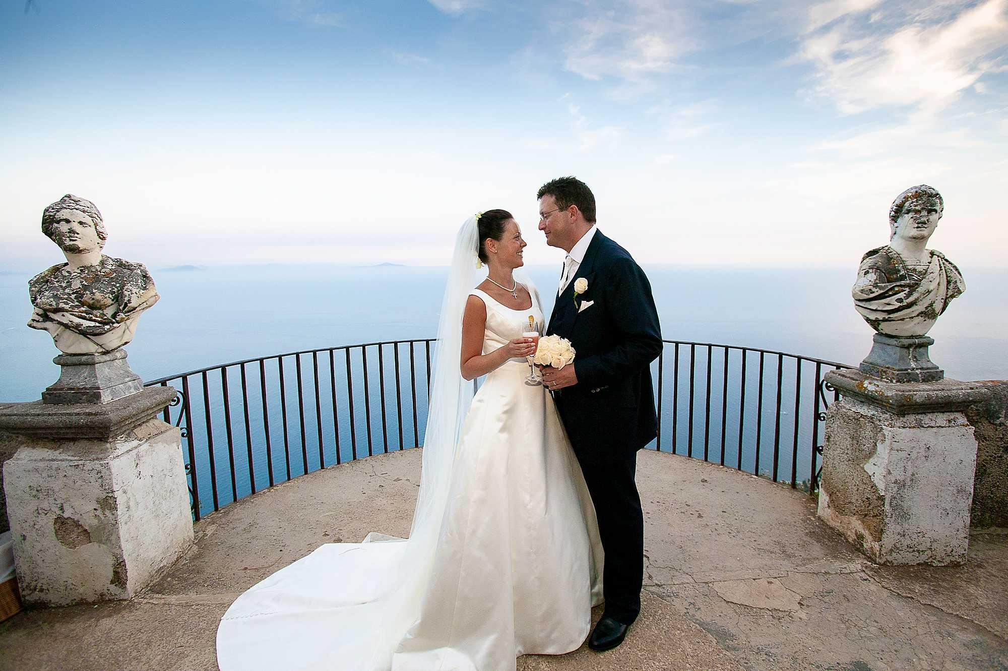 Ravello wedding photography of Emma & Matt
