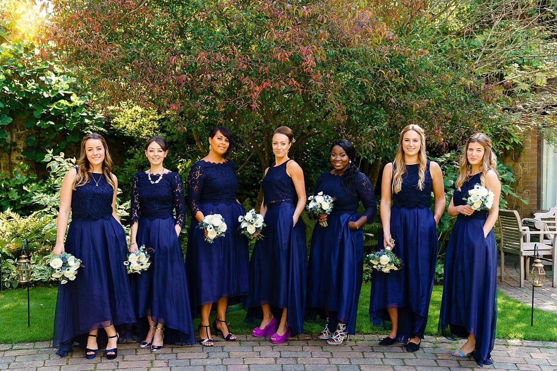 beautiful bridesmaids Ramster Hall