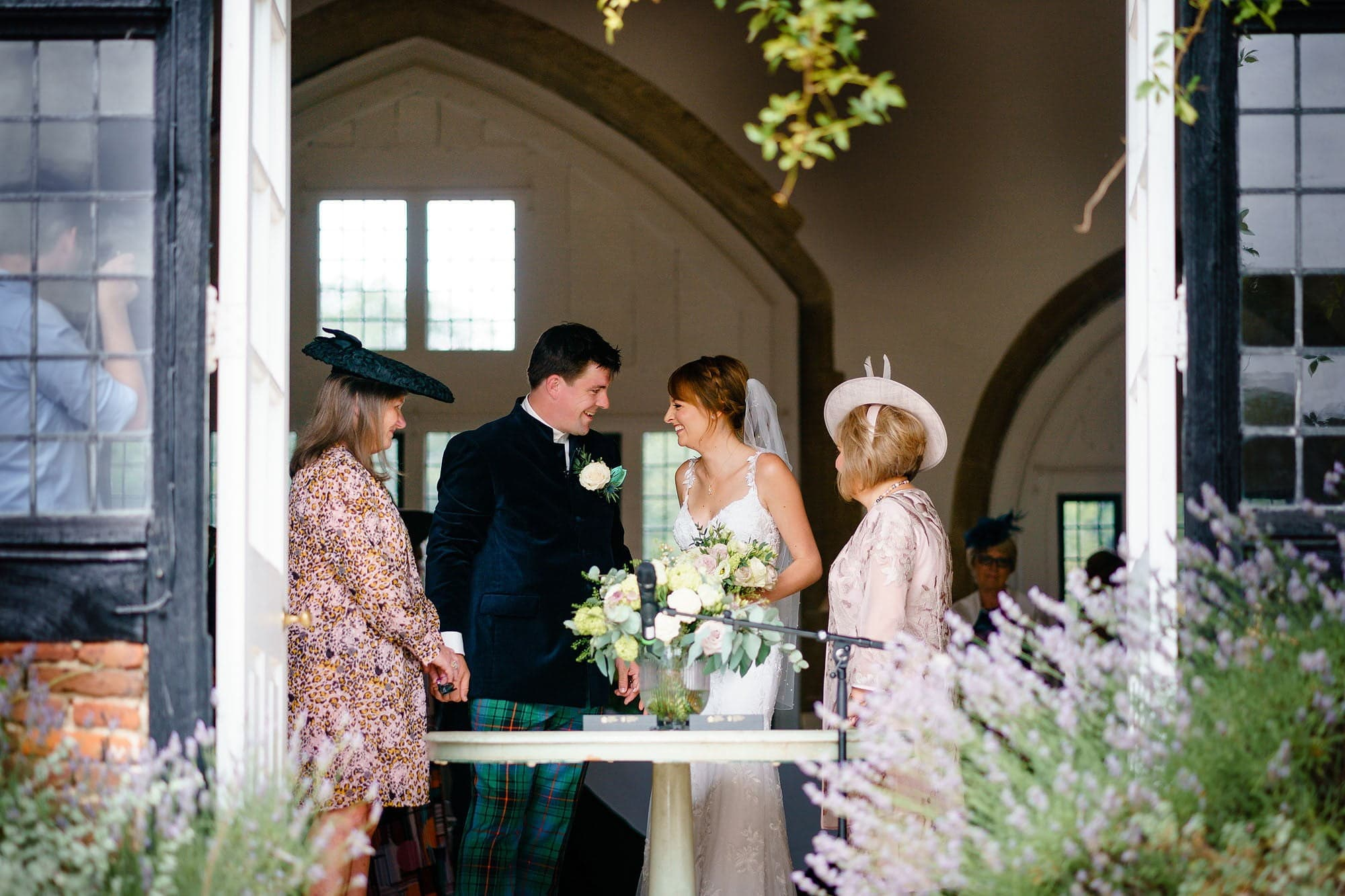 small Butley Priory wedding