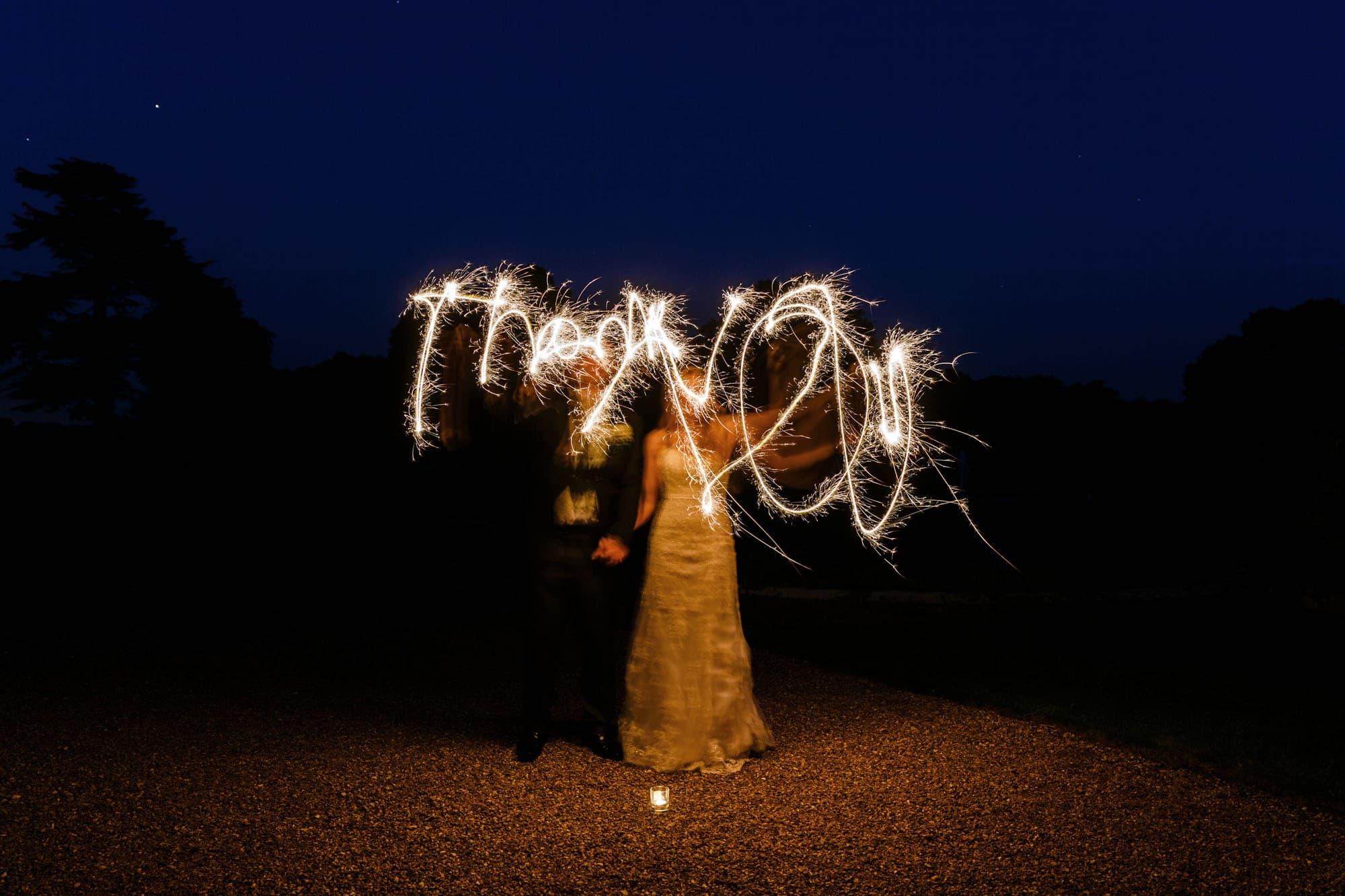 Somerleyton Hall wedding spraklers