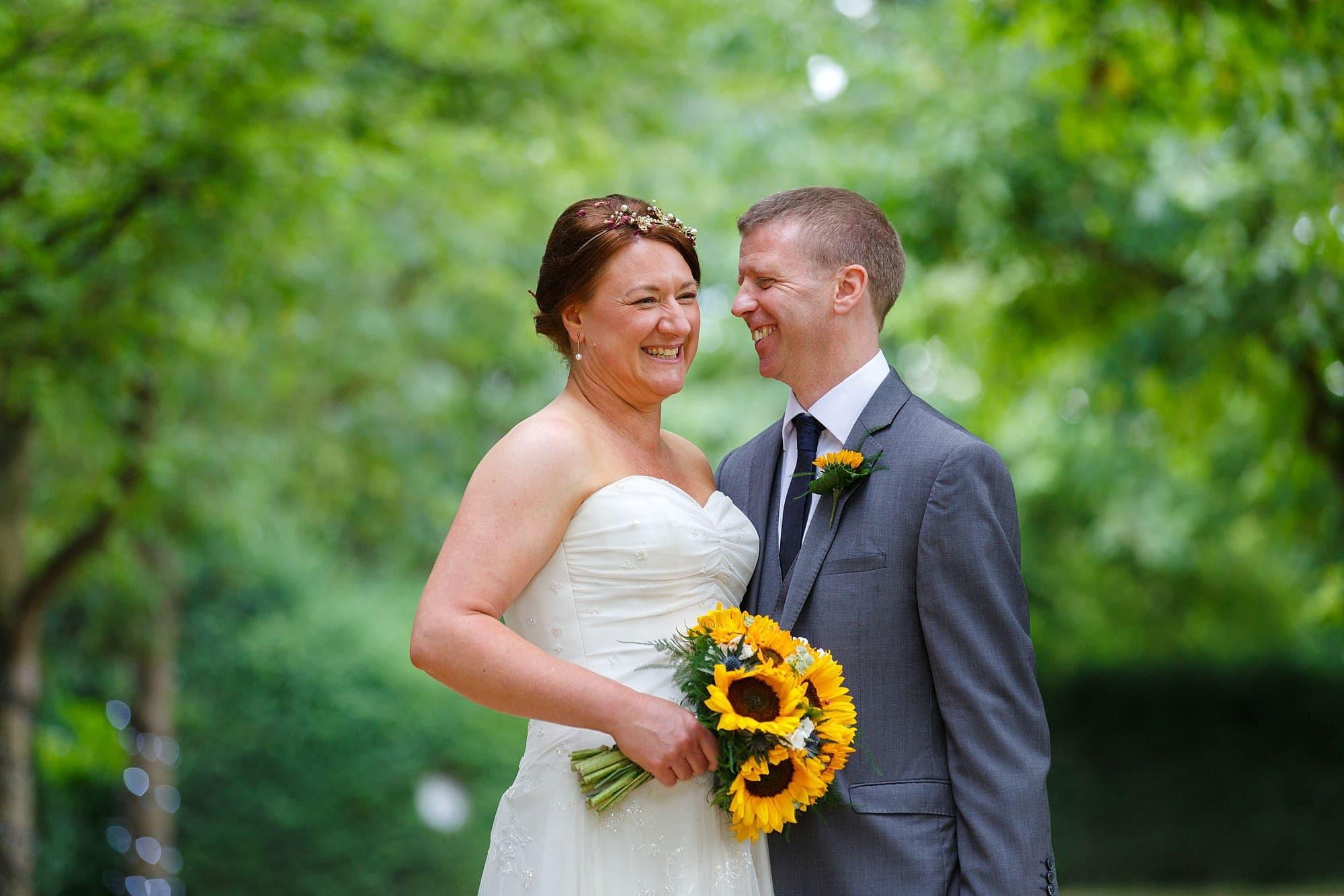 Sunflower wedding at South Farm