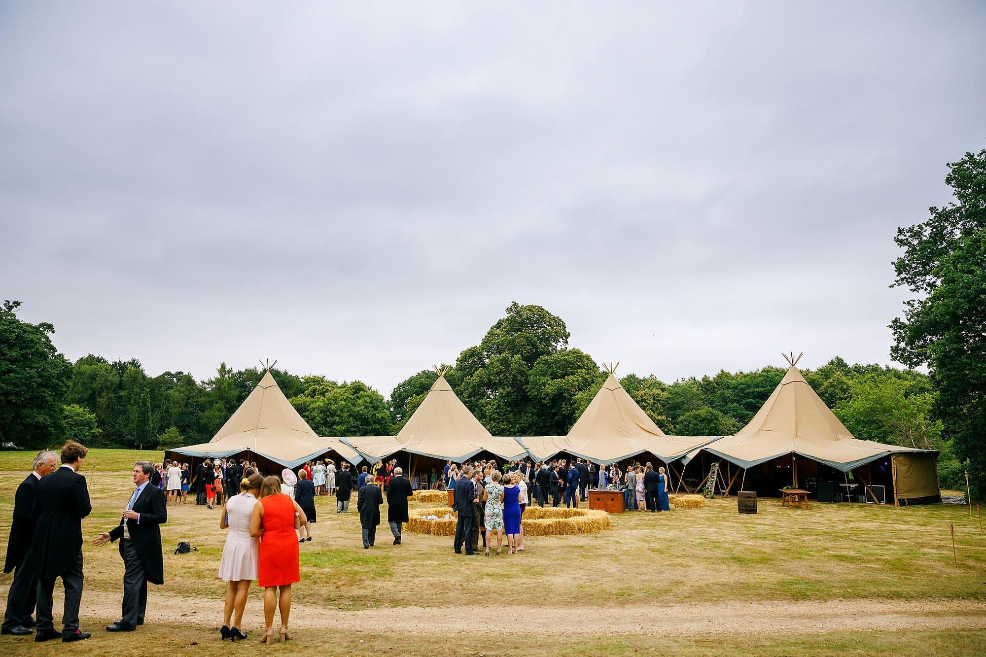 Suffolk teepee wedding