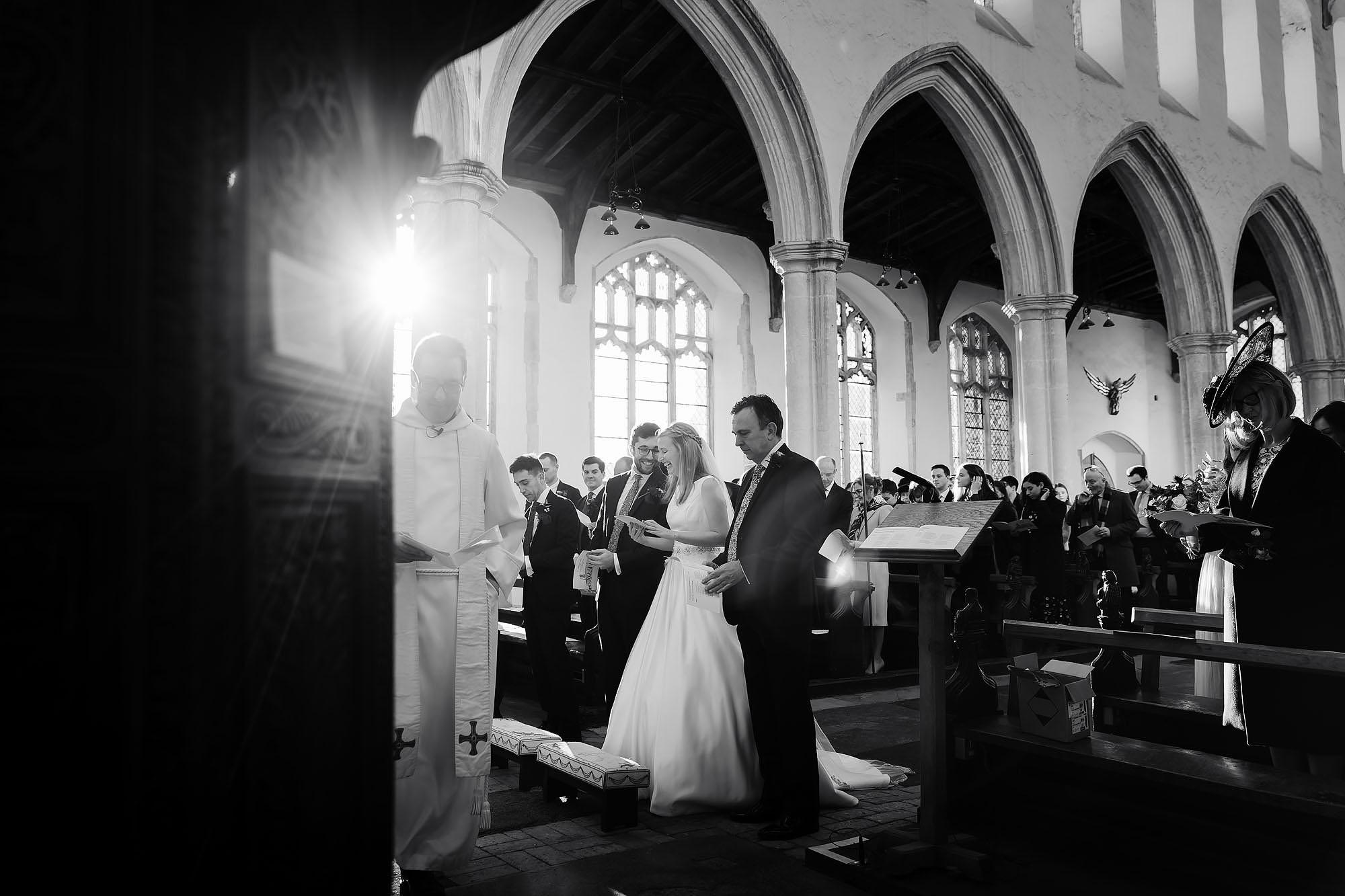 Blythburgh church winter wedding