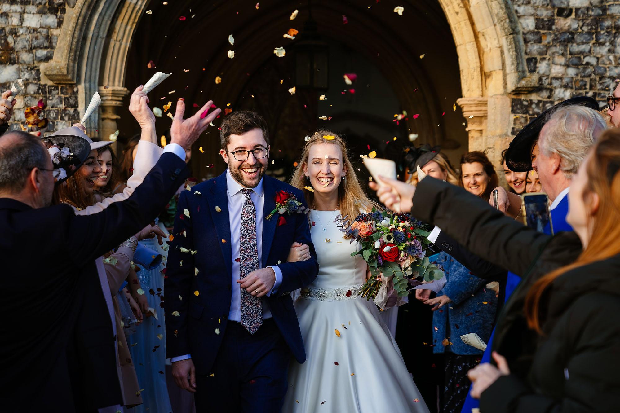 Blythburgh church wedding confetti