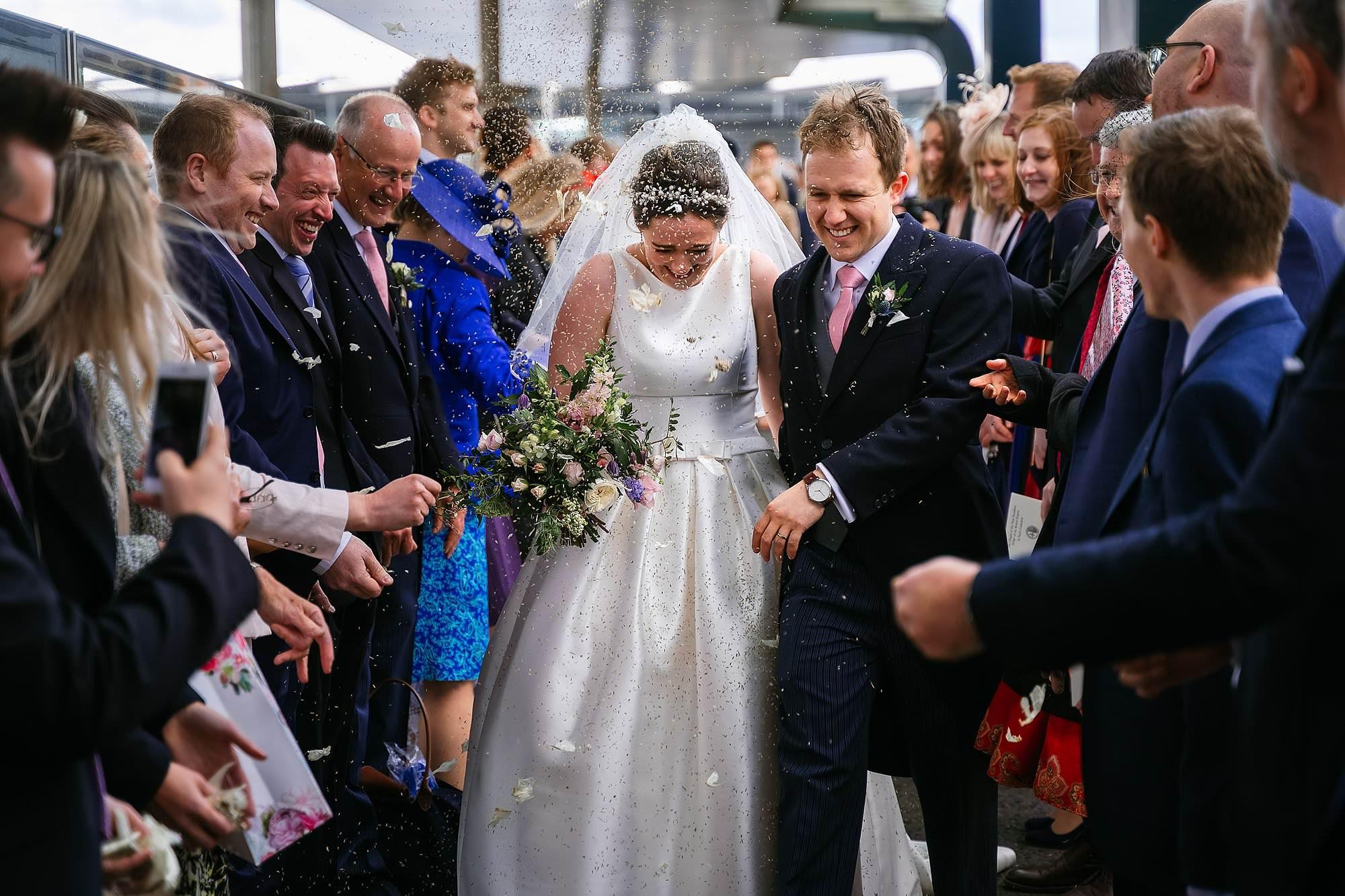 Thames river cruise wedding photos